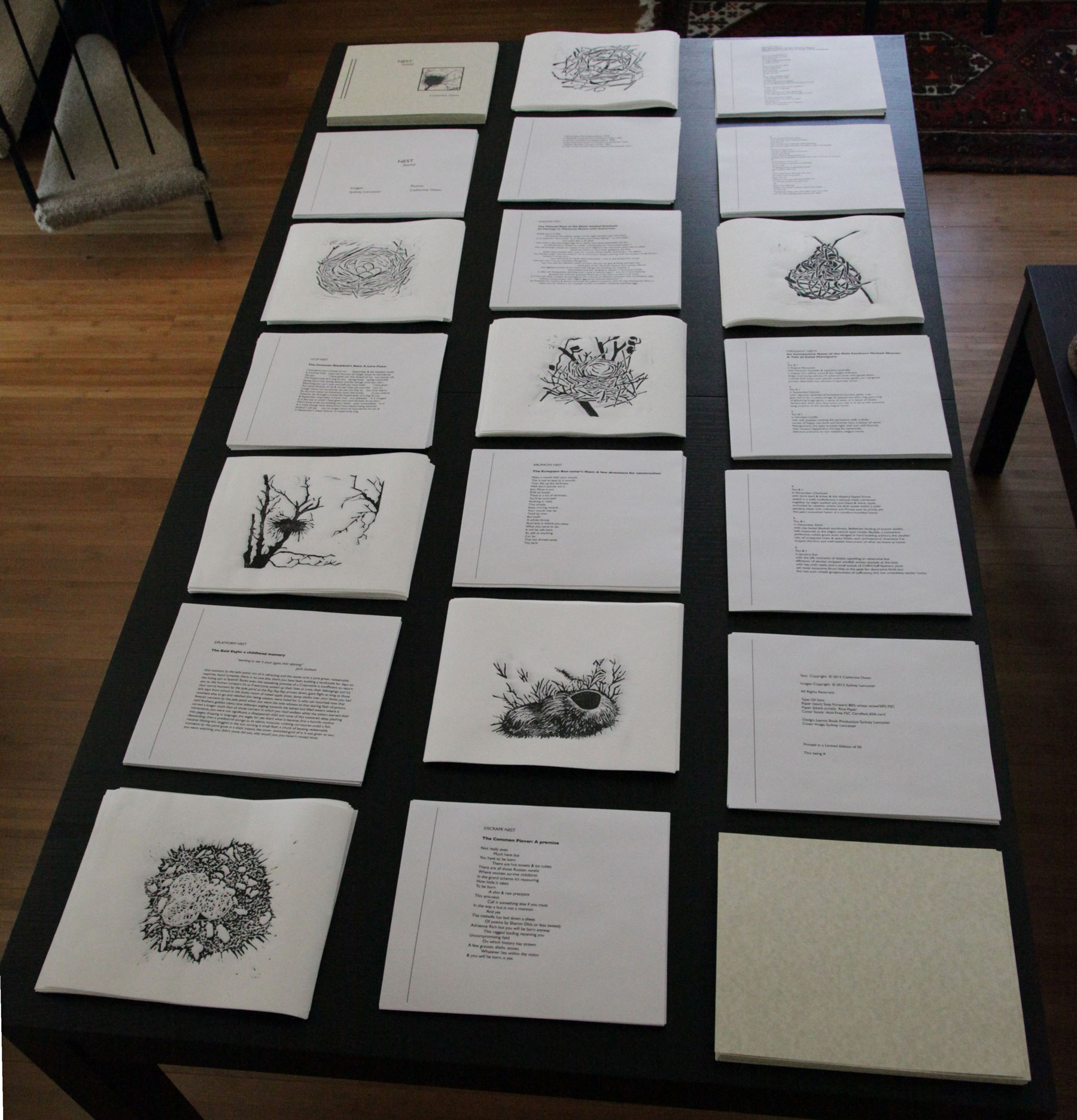 Books printed collated and bound sydney lancaster for Poetry chapbook template