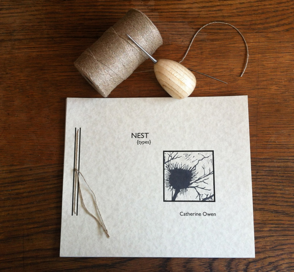 """... and the finished product! 10"""" x 8.5"""", text stock is 80% wheat straw; block prints are on rice paper; 65 lb FSC certified cover stock. 50 numbered copies."""