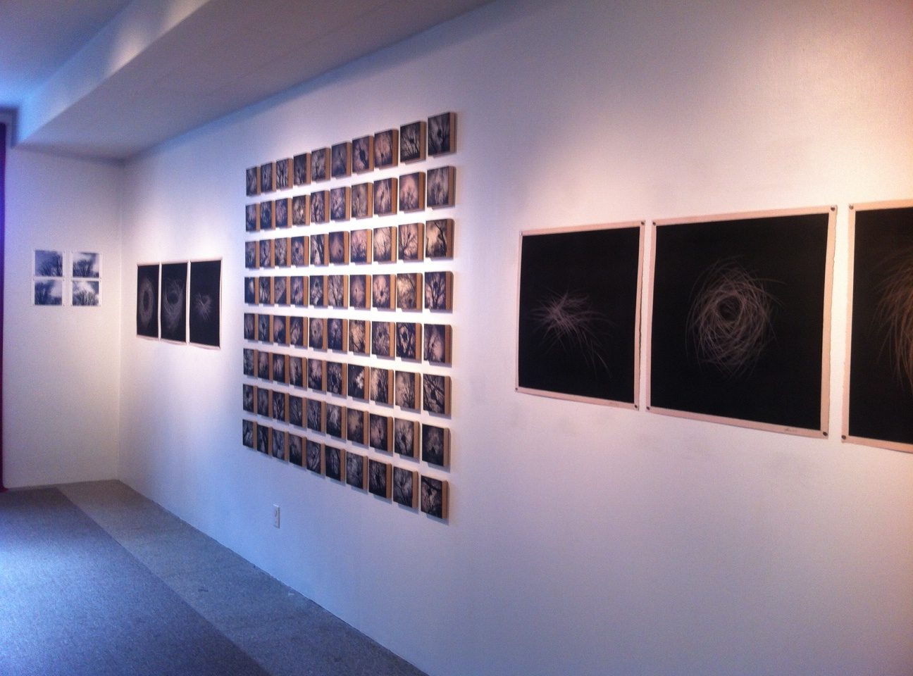 a view of some of the work in the gallery ...