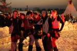 a group shot of the fire dancers, after the burn (shot at 6400, so the dark of night looks like late afternoon!