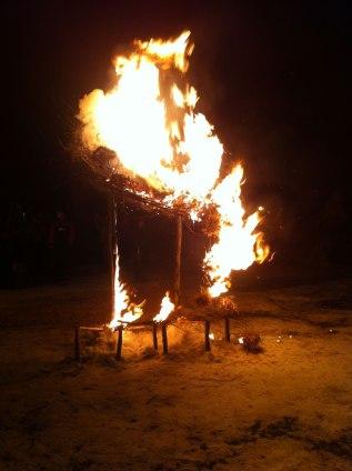 Fire Sculpture: Fearnest andWordwall