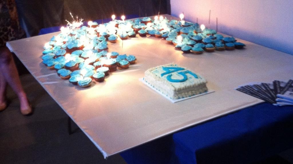 CARFAC's 45th Anniversary Cake in all its pre-eaten splendour! Happy Birthday CARFAC!