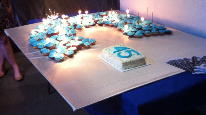 CARFAC's 45th Anniversary Cake in all its pre-eaten splendour! Happy Birthday CARFAC!