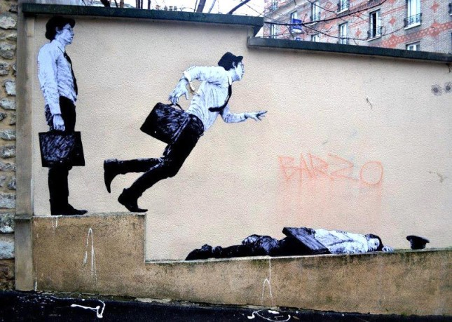 the urban theater Levalet 16