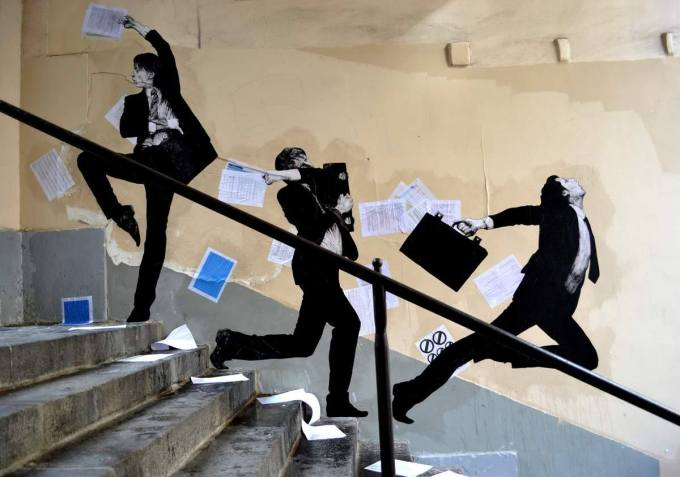 the urban theater Levalet 21