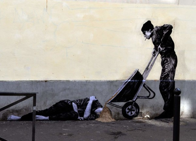 the urban theater Levalet 9